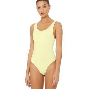 Alo Yoga Goddess Leotard - Yellow